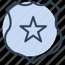 shield, star, award, medal