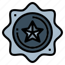 award, badge, emblem, medal icon