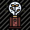 ecology, energy, lightbulb, trophy