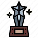 medal, prize, star, trophy