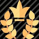 laurel, achievement, award, crown, prize, trophy, wreath