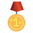 award, badge, cup, gold, medal, trophy, winner icon