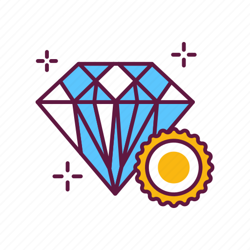 award, diamond, jewelry, prize, stone, trophy, victory icon