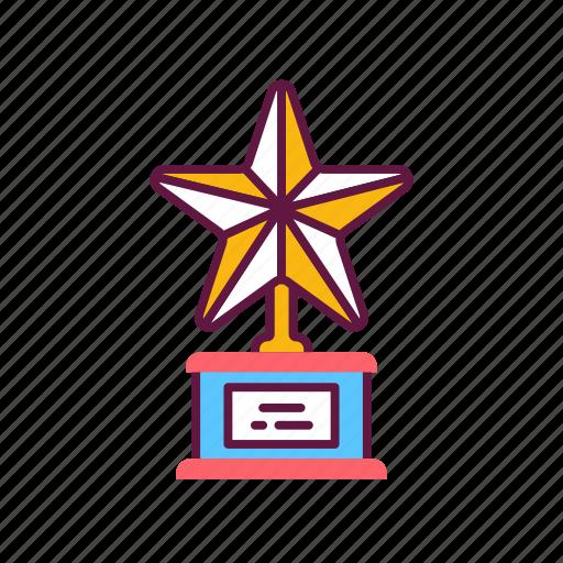 achievement, award, championship, golden, star, trophy, victory icon