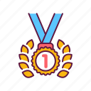 victory, achievement, laurel, badge, medal, wreath, award