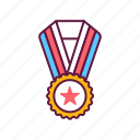 achievement, winner, badge, medal, victory, award