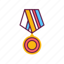 achievement, ribbon, winner, badge, medal, victory, award