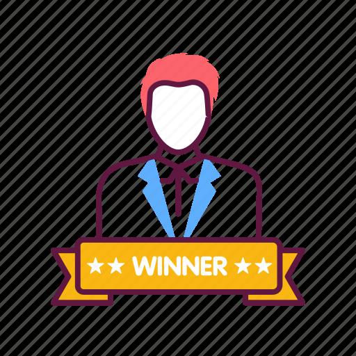 avatar, award, champion, prize, trophy, victory, winner icon