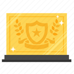 achievement, award, gold, prize, reward, success, trophy icon
