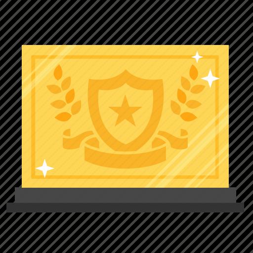 achievement, award, gold, prize, reward, success, trophy icon