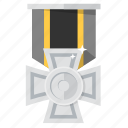 award, badge, brave, bronze, medal, prize, silver icon