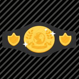 achievement, award, belt, boxing, champion, prize, winner icon