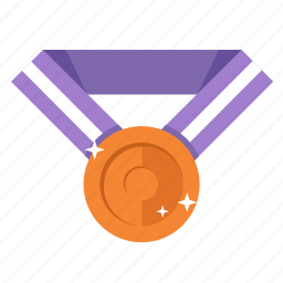 award, copper, medal, prize, third prize, trophy, winner icon