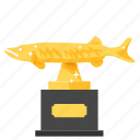 achievement, award, fishing, prize, reward, trophy, winner icon