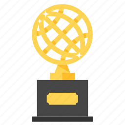 achievement, award, globe, golden, prize, trophy, winner icon