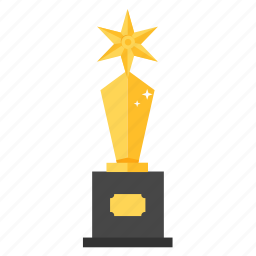 award, gold, golden, popular award, prize, star, trophy icon