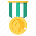 award, golden, medal, prize, badge, trophy, achievement icon