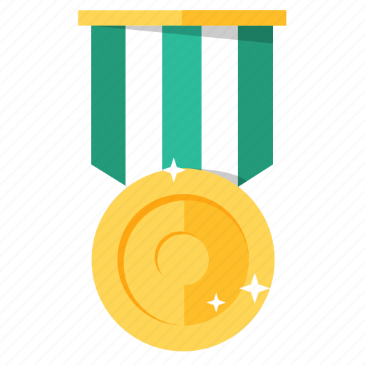 achievement, award, badge, golden, medal, prize, trophy icon