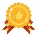 award, favorite, gold, golden, like, prize, social award icon