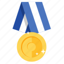 award, badge, gold, golden, medal, prize, winner icon