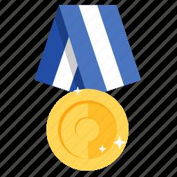 award, badge, gold, golden, medal, prize, winner icon