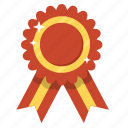 award, badge, best, medal, prize, red ribbon, ribbon icon