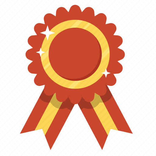 Award, badge, best, medal, prize, red ribbon, ribbon icon ...