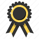 award, black ribbon, prize, ribbon, badge, medal, trophy