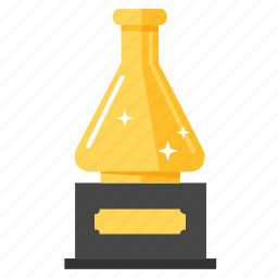 achievement, award, gold, prize, science, science awards, trophy icon