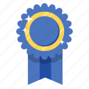 award, ribbon, senator, achievement, badge, medal, prize icon