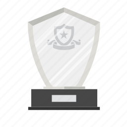 achievement, award, crystal, prize, reward, shield, trophy icon