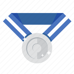award, medal, prize, second prize, silver, trophy, win icon