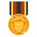 award, gold, medal, prize, victor, achievement, winner icon