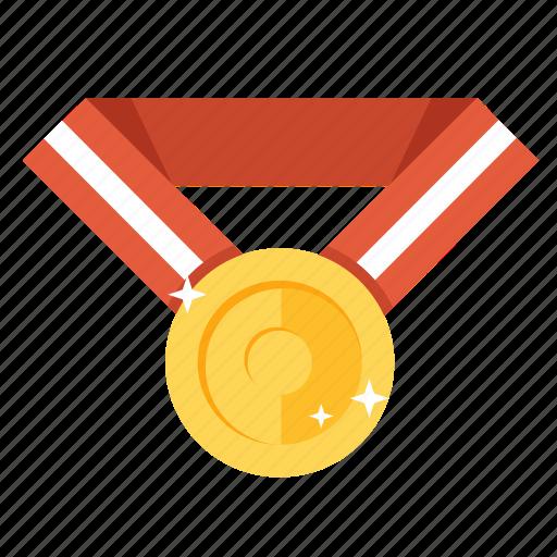achievement, award, gold, golden, medal, prize, winner icon