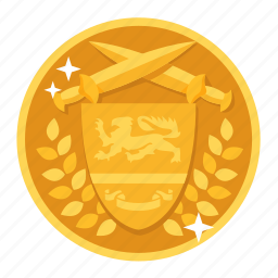 award, badge, champion, gold, medal, prize, winner icon