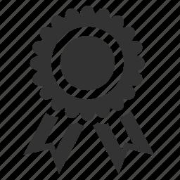 achievement, award, badge, medal, prize, reward, ribbon icon