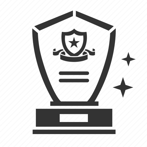 achievement, award, honor, prize, shield, trophy, winner icon