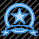 badge, award, winner, ribbon, star, achievement, medal