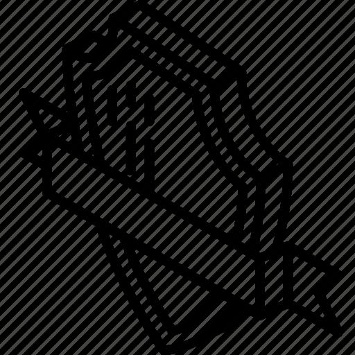 Isometric, sheild, award, awards, iso, ribbon icon