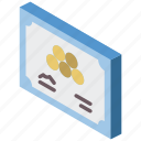 award, awards, certificate, iso, isometric icon