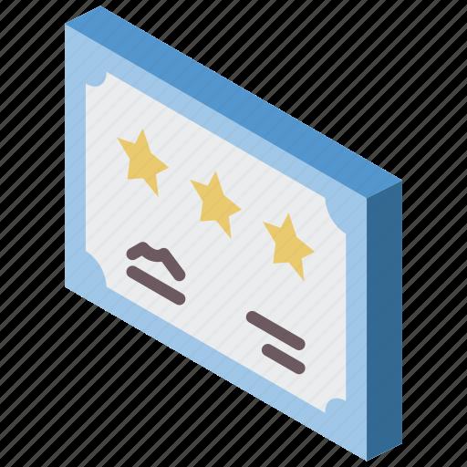 award, awards, certificate, iso, isometric icon