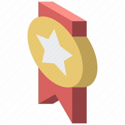 Award, awards, iso, isometric, medal icon - Download on Iconfinder