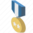 award, awards, iso, isometric, medal