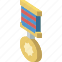 isometric, medal, award