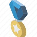 award, isometric, medal icon