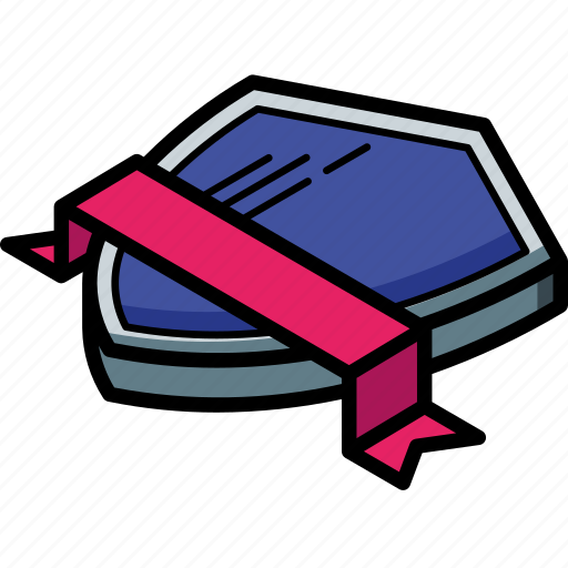 Award, isometric, ribbon, sheild icon - Download on Iconfinder