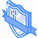 isometric, shield, award, awards, iso, ribbon