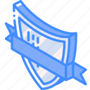 award, awards, iso, isometric, ribbon, shield icon