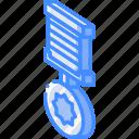 isometric, medal, award icon