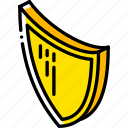 award, awards, iso, isometric, shield icon